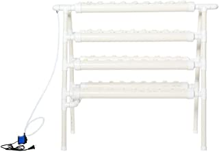 Double Side Hydroponic 72 Holes Plant Germination Kits,Hydroponic Rack System Grow Kit Water Culture Piping Site US 110-240V for Garden Leafy Vegetables