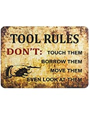 Gereedschap Regels Retro Iron Painting Tin Wall Signs Waarschuwingsteken Metalen Plaque Poster Art Decoratie Voor Bar Cafe Garage Office
