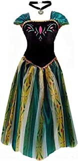Princess Adult Women Anna Elsa Coronation Dress Costume Cosplay