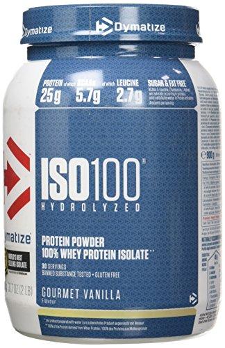 Dymatize ISO 100 Gourmet Vanilla 900g - Hydrolysat de Protéines de Whey + Poudre d'Isolat