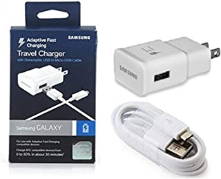 New OEM Samsung Adaptive Fast Charging Charger - for Samsung Galaxy S6/Edge/Edge-6/Note 4 - in Retail Packaging (US Warranty) (Renewed)