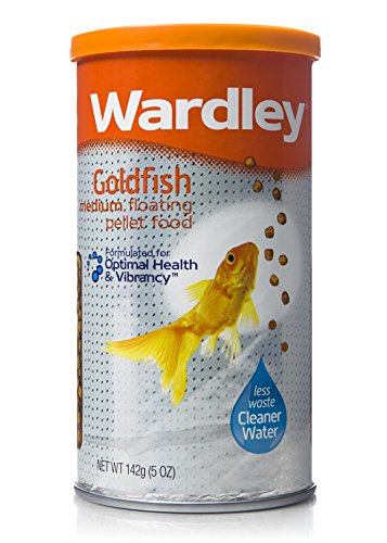 Wardley Goldfish Medium Floating Pellet Food - 5 oz, Browns