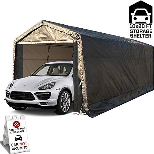 kdgarden 10' x 20' Heavy Duty Carport Portable Garage Enclosed Car Canopy Outdoor Instant Shelter...