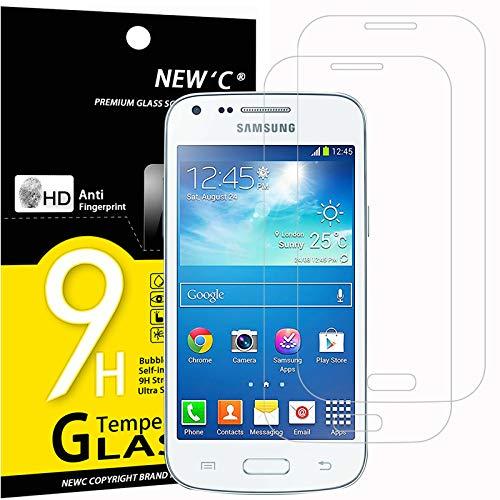 NEW'C 2 Pezzi, Vetro Temperato Compatibile con Samsung Galaxy Core Plus, Pellicola Prottetiva Anti Graffio, Anti-Impronte, Durezza 9H, 0,33mm Ultra Trasparente, Ultra Resistente
