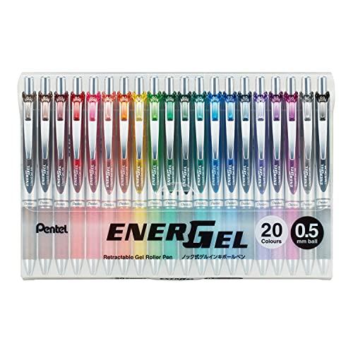 ぺんてる ゲルインキボールペン エナージェル 0.5mm 限定20色 BLN75Z-20