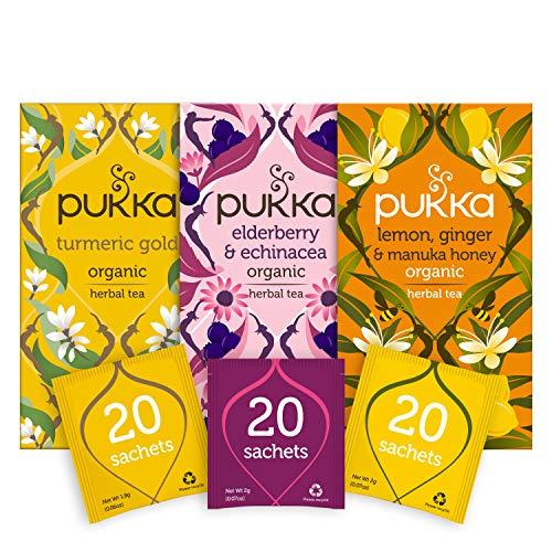 Pukka Thee Support Bundel – 60 zakjes – 3 smaken x 20 zakjes