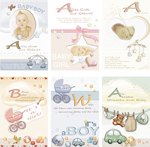 Lot de 25 cartes de vœux pour la naissance - 31-7501