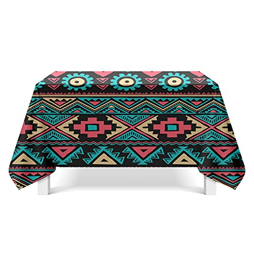 DSman Table Cover, Plastic Table Cloth, Tablecloth for Party, Birthday, Wedding Ethnic pattern art