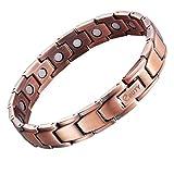 EBUTY pour Homme Bracelet magnétique en cuivre avec Outil Gratuit pour enlever Liens
