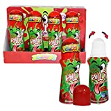 Sour Rolling Liquid Licker Candy Cherry Flavored - 12 Pack of 2.03 OZ Roll-It Bottles - Gluten-Free and No Coloring Added, (Kosher NET WT 24.24 OZ, 720ml )