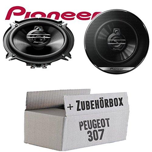 Peugeot 307 - Lautsprecher Boxen Pioneer TS-G1330F - 13cm 3-Wege 130mm Triaxe 250W Auto Einbausatz - Einbauset
