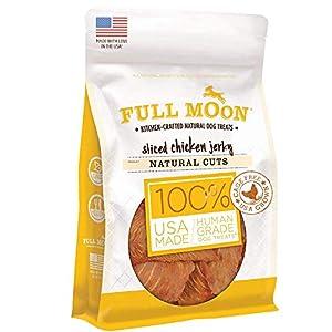 Full Moon All Natural Human Grade Dog Treats, Natural Cut Jerky, Sliced Chicken