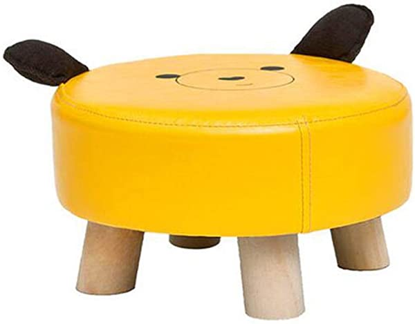 HQCC DLDL Children S Stool Baby Sofa Stool Footstool Solid Wood Stool Color A Yellow
