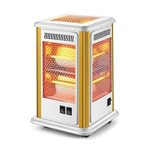 DWLXSH Calentadores eléctricos de los hogares de cinco lados Calentador Oficina asar cuarzo estufa Tubo todo horizonte de 360 grados Calentadores de calefacción for calentar la habitación rápidament