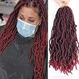 New Soft Locs Crochet Hair 24 Inches Pre-Loop Goddess Locs Crochet Braids Wavy Soft Faux Locs Croceht Hair African Roots Dreadlocks Synthetic Braiding Hair (24 Inch, T1b/BUG)