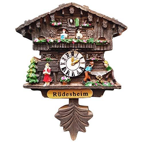 Ciffre Kuckucksuhr Magnet Polyresin Kühlschrank Handmade - Rüdesheim