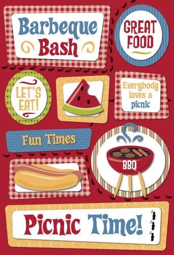 Unbekannt Karen Foster 10984 Design Scrapbooking-Aufkleber, säure- und ligninfrei, Tropisches Getaway Picknick