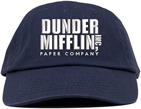 TOP LEVEL APPAREL Dunder Mifflin Inc Logo Embroidered Low Profile Soft Crown Unisex Baseball Dad Hat