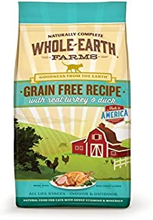 Whole Earth Farms Grain Free Recipe Dry Cat Food, Turkey and Duck, 10 lb. by Merrick Pet Care