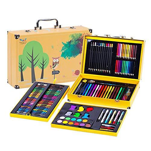 ZYL-YL Cepillo 158 Juego de Piezas de los niños Herramientas de Pintura Conjunto de Acuarela Lápiz de Color lápiz de Cera Material de Bellas Artes Material de Bellas Artes de Dibujo Pintura