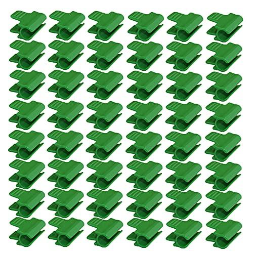 Rylod 48 Stück Gewächshaus-Klemmen, Folien-Abdeckungen, Netz-Tunnel-Clips, Schattierungsnetz-Stangen, Gewächshaus-Folien-Klemmen, passend für 11 mm Reifen/Rahmen