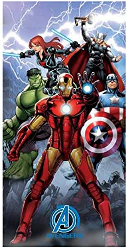 Toalla de playa de los Vengadores, de microfibra, 140 x 70 cm, secado rápido, ultra suave, Marvel Avengers Superhéroes Hulk Thor Iron Man