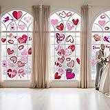 Bdecoll 144 Pegatinas de Bodas,Etiquetas engomadas coloridas de la ventana de los corazones / etiquetas de la puerta para las decoraciones nupciales del banquete de boda de la ducha del cumpleaños