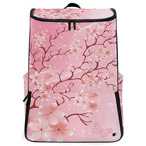 Mochila Primavera Japonesa Flor de Cerezo Mochila Senderismo para Adolescentes Niños Niñas Viaje Escolar Guardería
