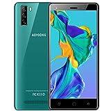 "Moviles Libres 4G Android 9 GO con 5.0"" HD+, Doble SIM,8MP + 5MP, Teléfono móvil, Batería 2800mAh Smartphone Libre, Face ID/GPS-Verde Móviles Buenos"