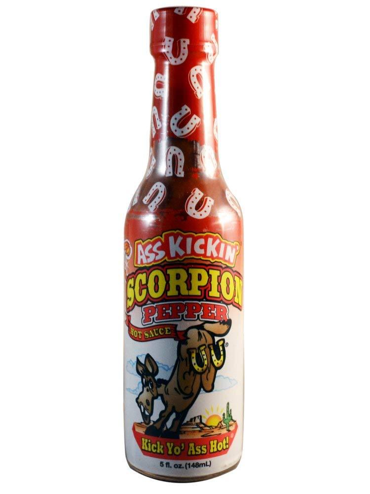Baltimore Mall ASS KICKIN' Scorpion Pepper Hot Sauce - Ranking TOP1 oz 6 Gourmet 5 Pack