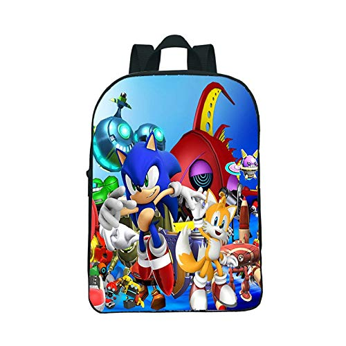 XINKANG Sonic The Hedgehog New Sonic Backpack 12inch Mini Kindergarten School Bags Beautiful Pattern Practicality Quality School Rucksack Daily Backpack