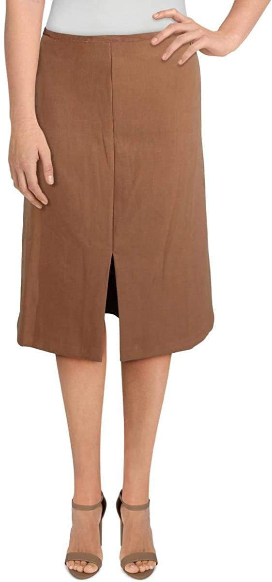 TAHARI Womens Side Slit Workwear A-Line Skirt