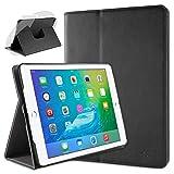 doupi Deluxe Protección Funda para iPad Air 2, Smart Sleep/Wake Up función 360 Grados giratoria del Caso del Soporte Bolsa, Negro