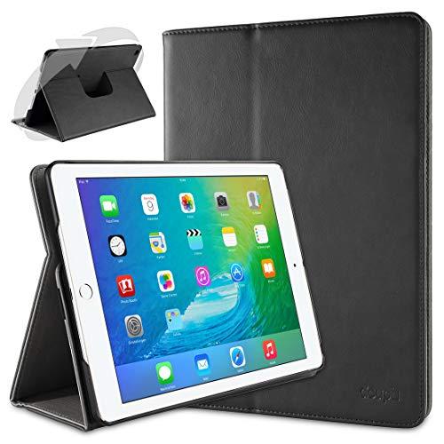 doupi Rotatif Housse pour iPad Air 2, Deluxe 360 Degrés Smart Coque de Protection Simili Cuir Coque Cover et Case, Noir