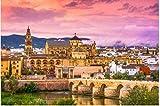 WFTD Rompecabezas Adultos 1000 Puzzle Creativo Puzzle Mezquita de Córdoba Catedral Puente Romano para Infantiles Adolescentes Juguetes educativos para