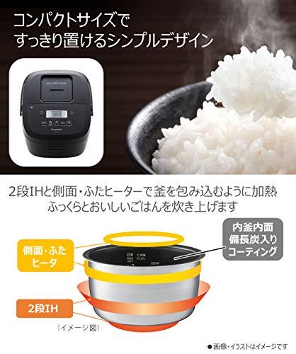 パナソニック炊飯器5.5合IH式備長炭釜ブラックSR-FE109-K