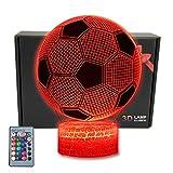MARZIUS LED-Nachtlicht in Fußballform, 3D-Optische