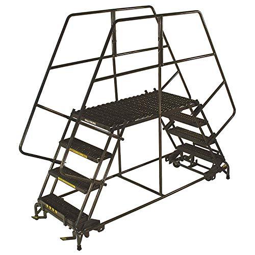 "Ballymore DEP5-3672 5 Step Heavy Duty Steel Double Entry Work Platform 36""W Steps"