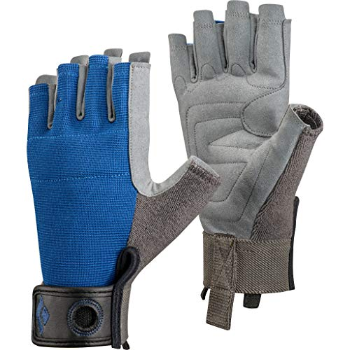 Black Diamond Crag Half Finger Glove Mixte - Bleu- M