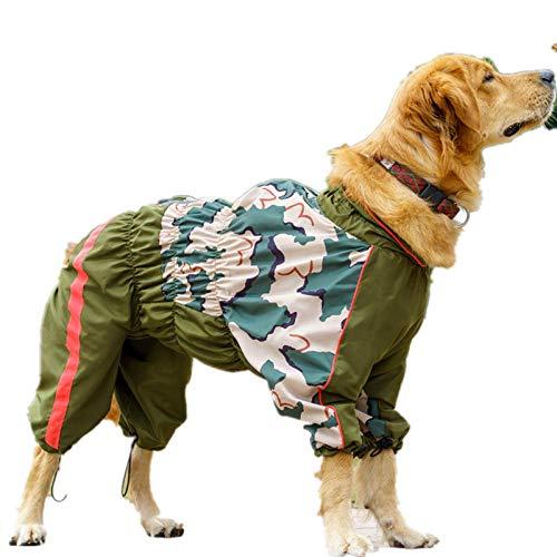 Aexit Mittelgroßer Hund Regenmantel Overall wasserdichte atmungsaktive Kleidung für Mädchen Hunde Französische Bulldogge Labrador Umhang wasserdichte Regenjacke20