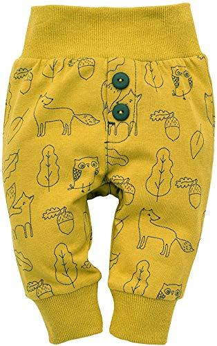 Pinokio - Secret Forest - Leggings mit elastischer Bund Jungen Unisex Baby Kinder Hosen mit Druck 95{e3954c6808c8a0473518123d97cbef1a4e5e43893380feede64c79a9f86099cb} Baumwolle Jogginghose Haremshose Gelb 56 62 68 74 80 86 92 98 cm (74 cm, Gelb)