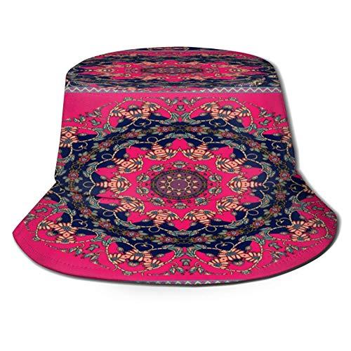 PUIO Angelhut Fischerhut,Teppich Tischdecke Schal Bandana Vektor Boho,Bonie Safari Sonnenhüte zum Wandern im Freien für Männer und Frauen