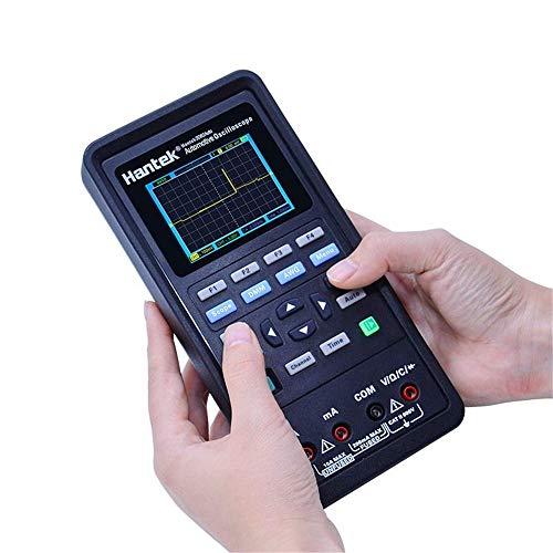 Osciloscopios Auto osciloscopio Digital multímetro 4 in1 2 Canales de 80 MHz Fuente de señal Automotriz de diagnóstico 250MSa / s (Color : Negro, tamaño : Un tamaño)