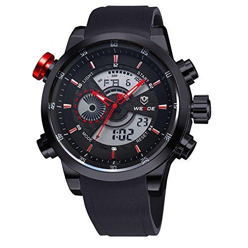 WEIDE CursOnline - Elegante reloj de hombre y niño WH3401 Dual Display LED Watch Sport Classic Precioso modelo (rojo)
