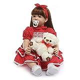Binxing Toys 24 Pulgadas 60 cm Vida muñecas Reales recién Nacido Reborn Toddler Bebe Reborn niña Ojo...
