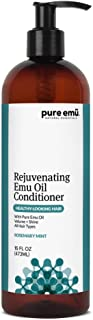 PURE EMU Rejuvenating Emu Oil Conditioner: Infused With Pure, Fully Refined Emu Oil | Alcohol Free, Paraben-Free, SLS-Free | Convenient Pump Dispenser (Refreshing Rosemary Mint), 16 fl oz
