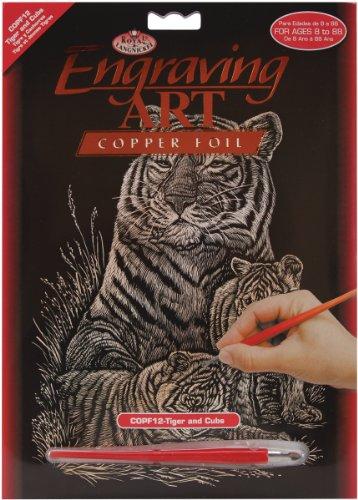 Royal & Langnickel COPF12 - Engraving Art/Kratzbilder in Kupfer Din A4 - Tiger & Babies