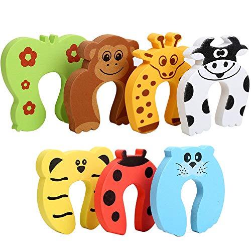 Türstopper für Baby und Haustiere,Finger Einklemmschutz Schaumstoff Türstopper,7er Pack,Doorstop Fingerklemmschutz Kinder sicherung für Türen Fenster
