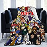 FAI-Ry Tail Lu-Cy Hear-Tfilia Anime Soft Blanket Fuzzy Warm Throws For Winter Bedding, Couch and Plush House Warming Gift For Adults & Kids 50'X40'