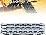 AEGIS light Tire Escaper Traction Mats,Recovery Boards Traction Tracks Mat,Easy to Install, Get Unstuck Fast A Snow Traction Mat or Snow Chain Alternative 1 Pack,Black (Color : Grey)